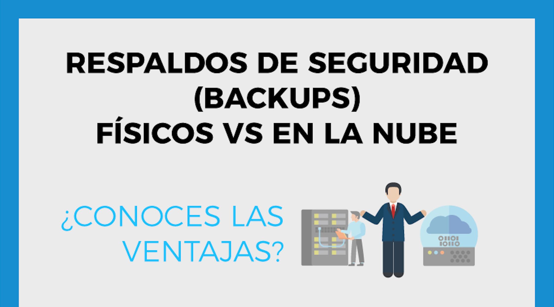 [Infografía] Backups físicos vs en la nube