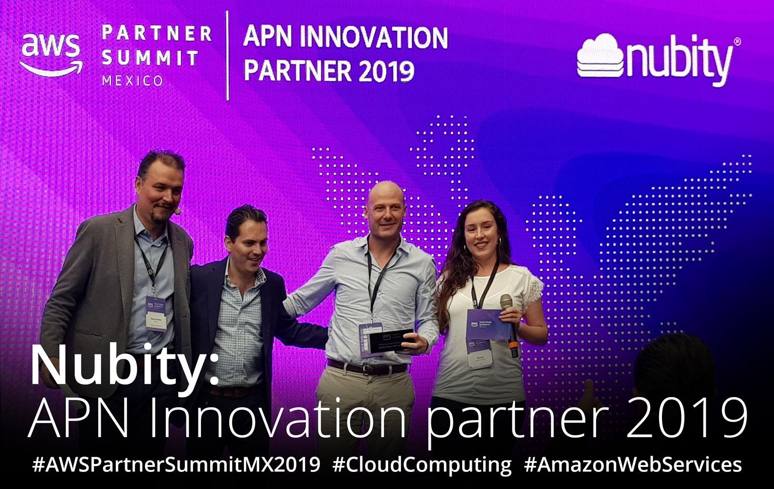 Nubity: galardonado con el premio APN Innovation Partner 2019